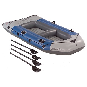 Sevylor Colossus 4-Person Inflatable Boat with oars